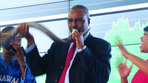 MINDS Founder, Dr. Nkosana Moyo guest speaker at Market Open event at the launch of the #AfricaNot4Sale campaign