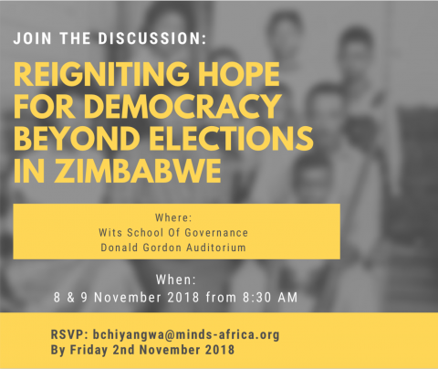 Join us for the MINDS 2018 African Democracy Dialogue Series