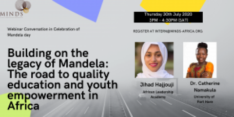 Building on the legacy of Mandela: The road to quality education and youth empowerment in Africa